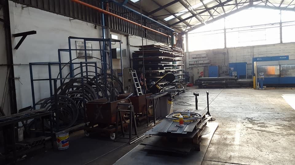 Realizzazione nuova linea di alimentazione per macchinario presso capannone a Forlì
