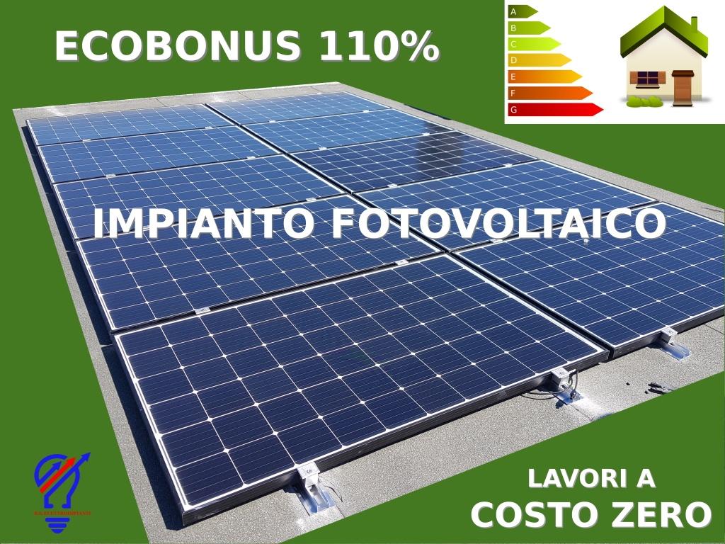 Ecobonus 110% impianto fotovoltaico